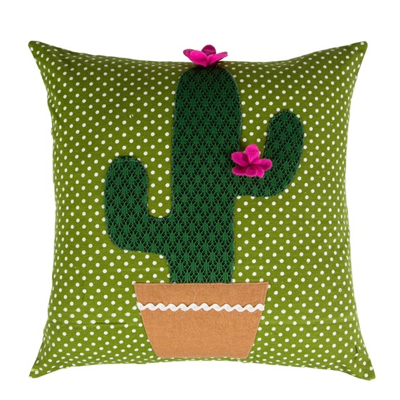 Purple Colourful Cactus Cushion