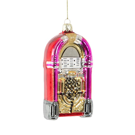 Retro Jukebox Shaped Bauble
