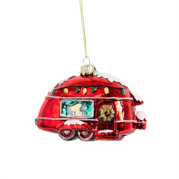 Christmas Caravan Shaped Bauble