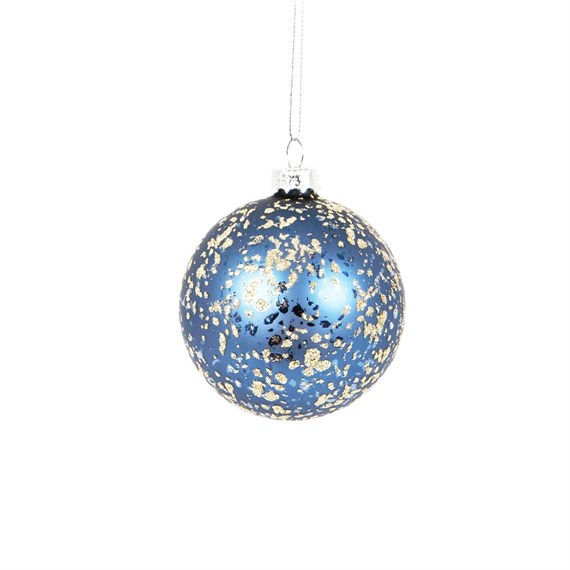 Nights Sky Gold Flecks Bauble
