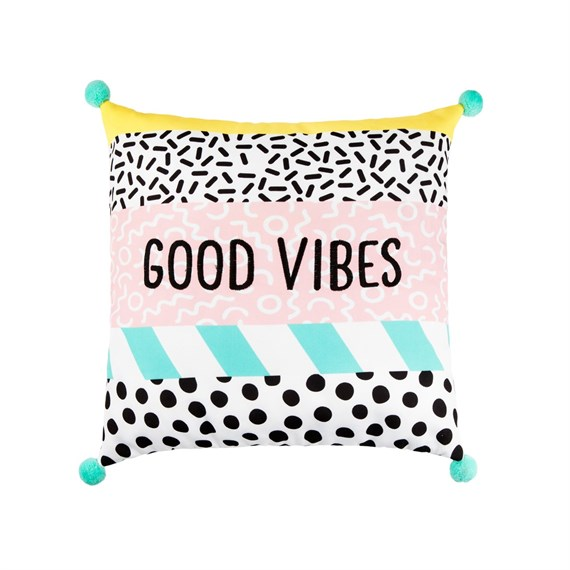 Memphis Modern Good Vibes Cushion