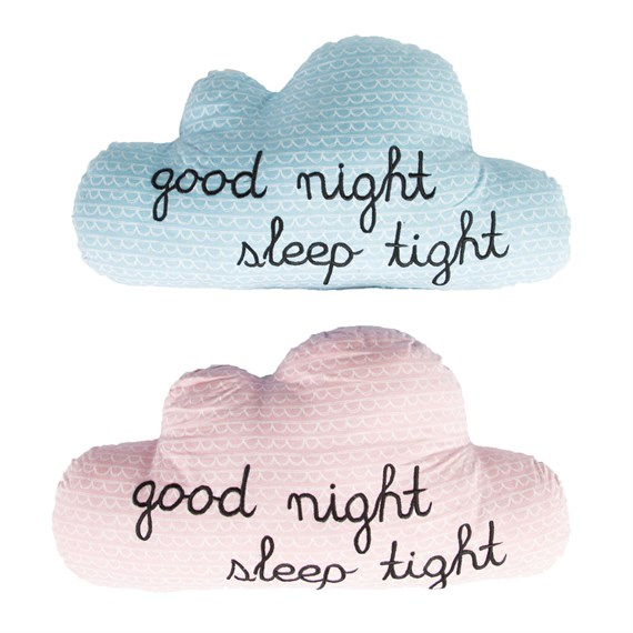 Good Night Sleep Tight Cloud Decorative Cushion