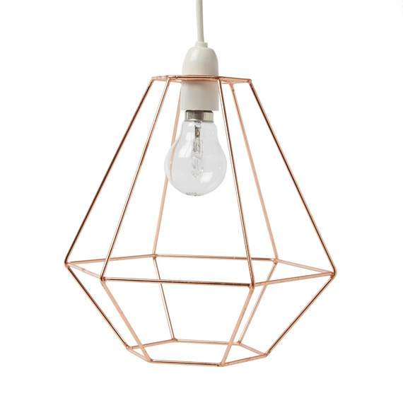 Copper wire diamond lampshade greentooth Choice Image