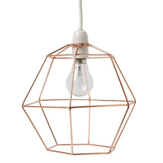 Copper wire hexagon lampshade keyboard keysfo Choice Image