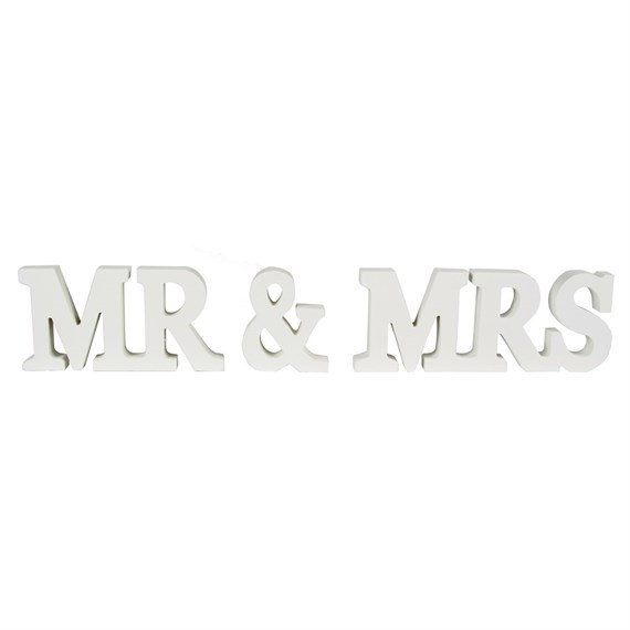 Mr & Mrs Cream Standing Letters