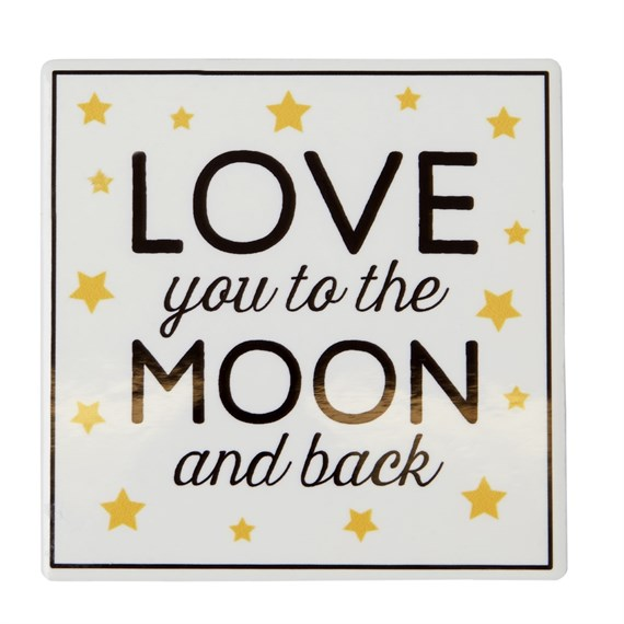 Love You to the Moon & Back Golden Stars Coaster