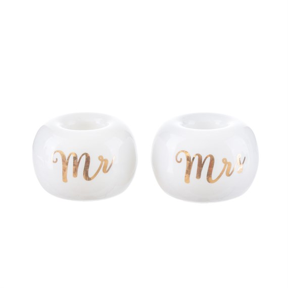 Mr & Mrs Toothbrush Holders - Set of 2