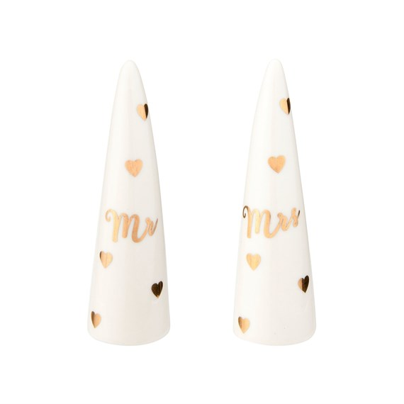 Mr & Mrs Ring Cones - Set of 2