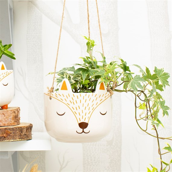 Woodland Fox Hanging Planter