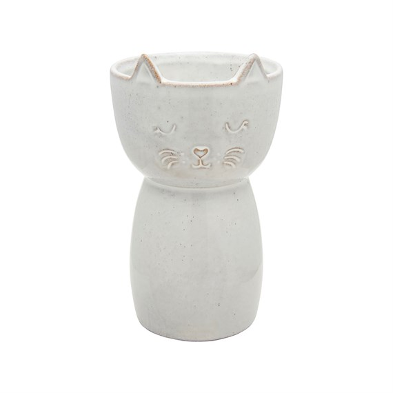 Speckled Cat Vase