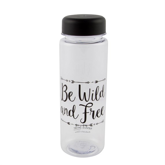 Be Wild & Free Clear Water Bottle