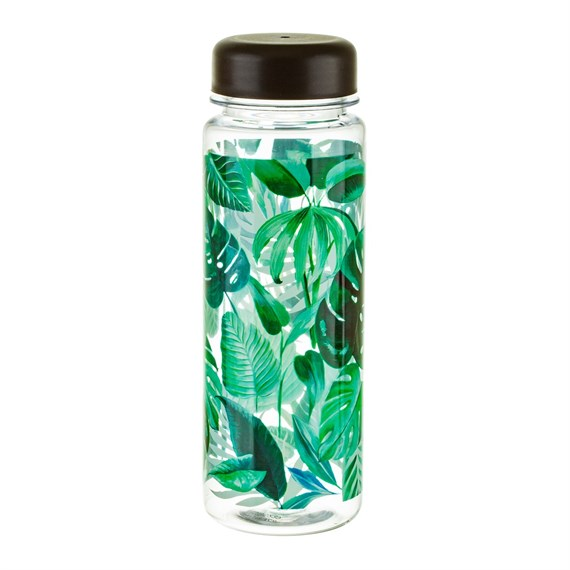Botanical Jungle Clear Water Bottle