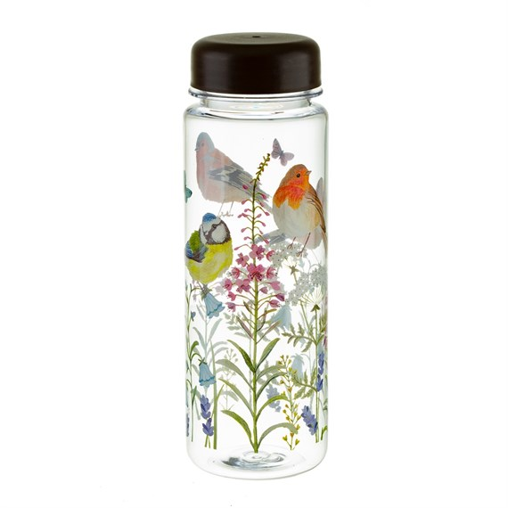 Garden Birds Clear Water Bottle
