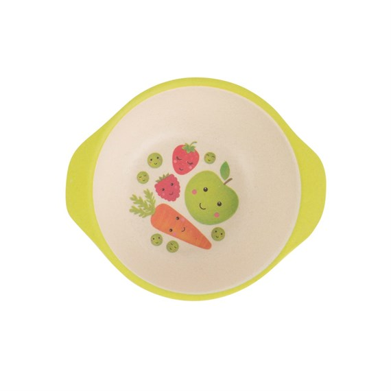Happy Fruit & Veg Bamboo Kid's Bowl