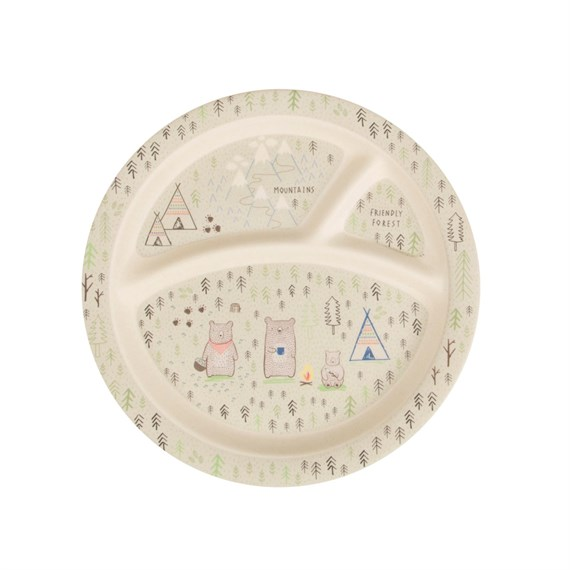 Bear Camp Bamboo Kid's Plate
