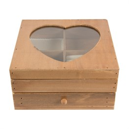 Country Farmhouse Heart Jewellery Box