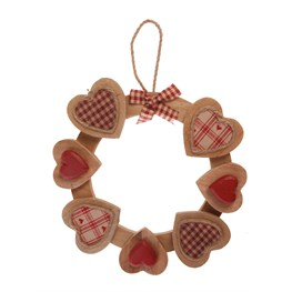 Natural Wood Heart Hanging Decoration