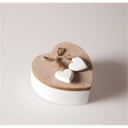Ashley Farmhouse Swivel Heart Box