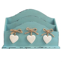 Delilah Letter Rack with White Hearts