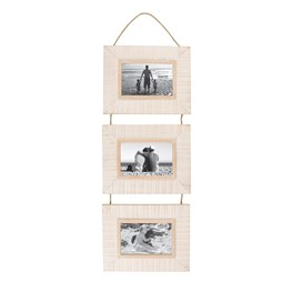 Seaside Chic Hanging Triple Photo Frame