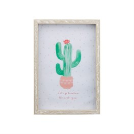 Pastel Cactus Wooden Photo Frame