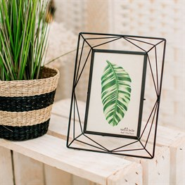Trapeze Black Photo Frame