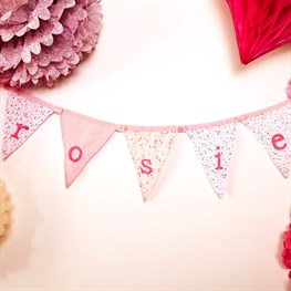 Ditsy Single Alphabet Bunting (options available)