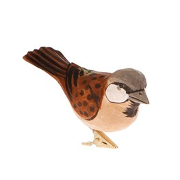 Brown British Bird Clip