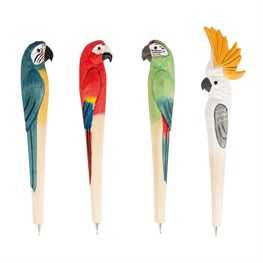 Parrot Paradise Carved Wood Pen  (options available)
