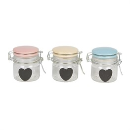 Retro Pastel Jar with Heart Small (options available)