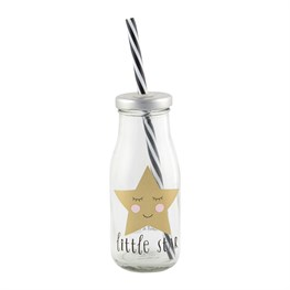 Sweet Dreams Mini Milk Bottle with Straw