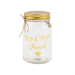 Mr & Mrs Fund Jar Money Box