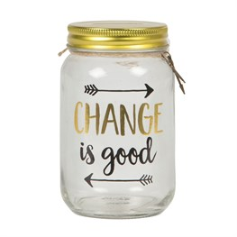 Change is Good Jar Money Box