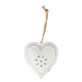 Vintage Heart Decoration Cream