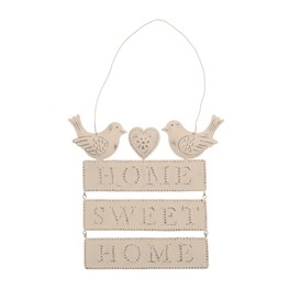 Home Sweet Home Plaque Vintage Words
