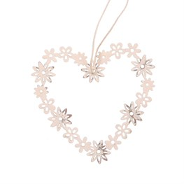 Vintage Daisy Heart Hanging Decoration