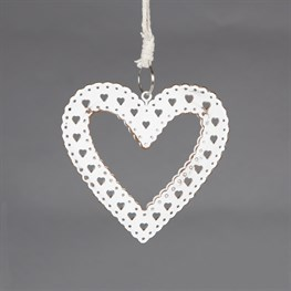 Filigree Dainty Heart Hanging Decoration