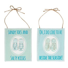 Seaside Flip-flops Plaque (options available)