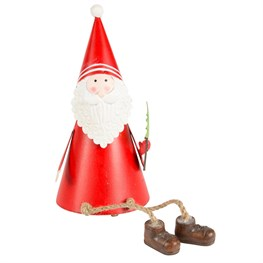 Santi the Wiggly Legs Santa Standing Decoration