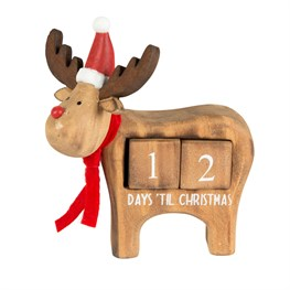 Rudi Days Until Christmas Countdown Calendar Block