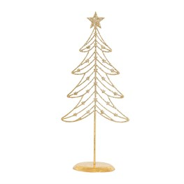 Gold Glitter Wire Christmas Tree Decoration