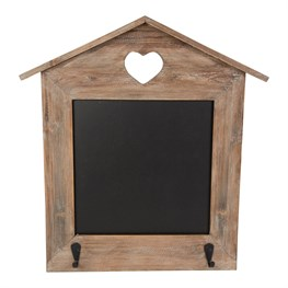 Ashley Farmhouse Chalkboard Wall Hanging House with Hooks