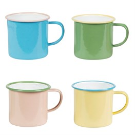 Two Tone Retro Enamel Camping Mug  (options available)