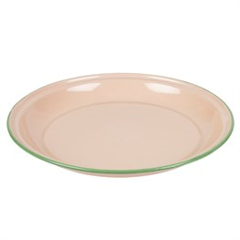 Pink Two Tone Enamel Camping Plate