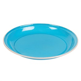 Blue Two Tone Enamel Camping Plate