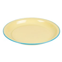 Yellow Two Tone Enamel Camping Plate