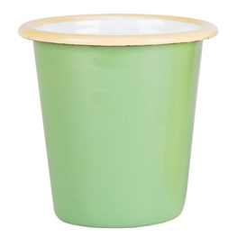 Green Two Tone Enamel Camping Cup