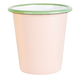 Pink Two Tone Enamel Camping Cup