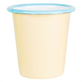 Yellow Two Tone Enamel Camping Cup