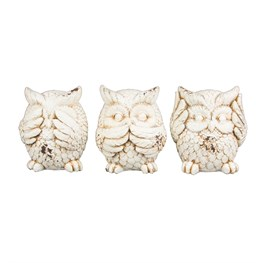 Set of 3 Wise Owls